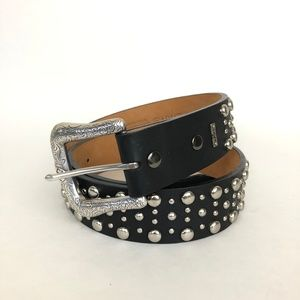 Ariat | Black Leather Studded Belt with Buckle